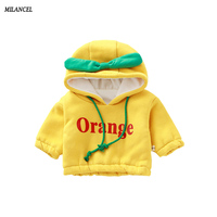 Milancel 2017 Winter Baby Hoodies Fruit Style Baby Boys Sweatshirts Thicken Boys Hoodies Baby Girls Clothing