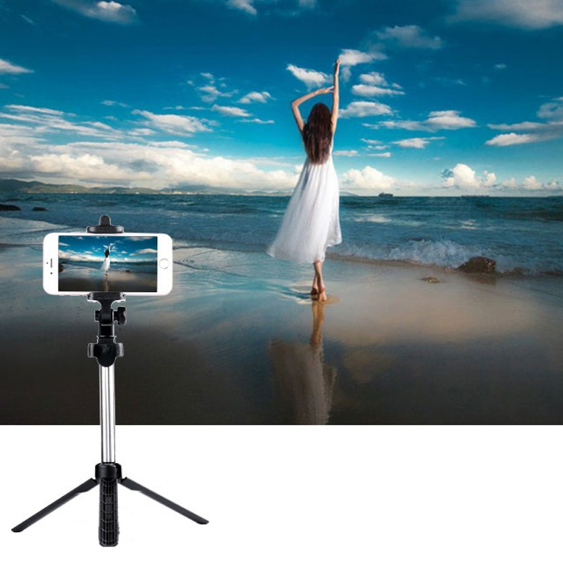 Pocket Tripod Selfie Stick Bluetooth Control Remote 360 Rotation Extendable Monopod tripode for iPhone/Android Phone universal android ios phone folding extendable selfie stick auto selfie stick tripod clip holder bluetooth remote controller set