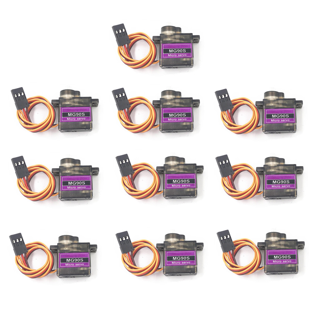 4/5/10/20pcs/lot MG90S Metal gear Digital 9g Servo SG90 For Rc Helicopter Plane Boat Car MG90 9G Trex 450 RC Robot Helicopter(China)