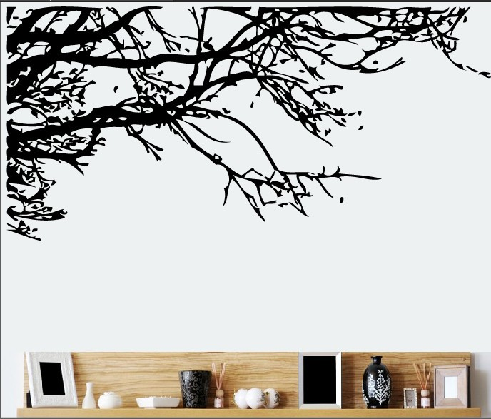 & Cartoon Forest Black Tree Branch Wall Stickers Bedroom Kids Rooms Bedroom Living Room Boys Girls Children Bedroom Home Decor