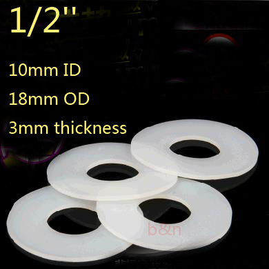 1/2\'\' 10*18*3 silicon rubber sealing ring Silicone seals plain flat ...