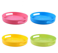 1pc Colorful Fruit Dish Candy Color Bowl Storage Box Plastic Vegetable Plate Tableware Tool Creative Round