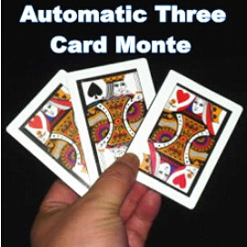 3 pz/lotto Automatico Three Card Monte (Formato Poker, 8.8x6.4 cm) trucchi magici K a Q Carta Magia Close Up Trucco Puntelli Accessori Divertenti