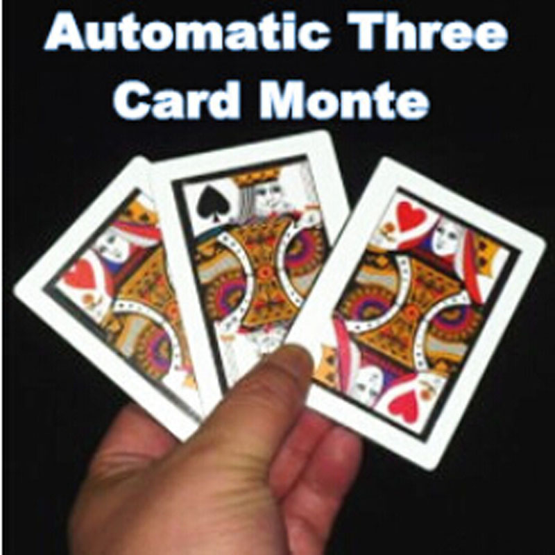3pcs/lot Automatic Three Card Monte (Poker Size,8.8x6.4cm) Magic Tricks K To Q Card Magia Close Up Gimmick Props Accessories Fun