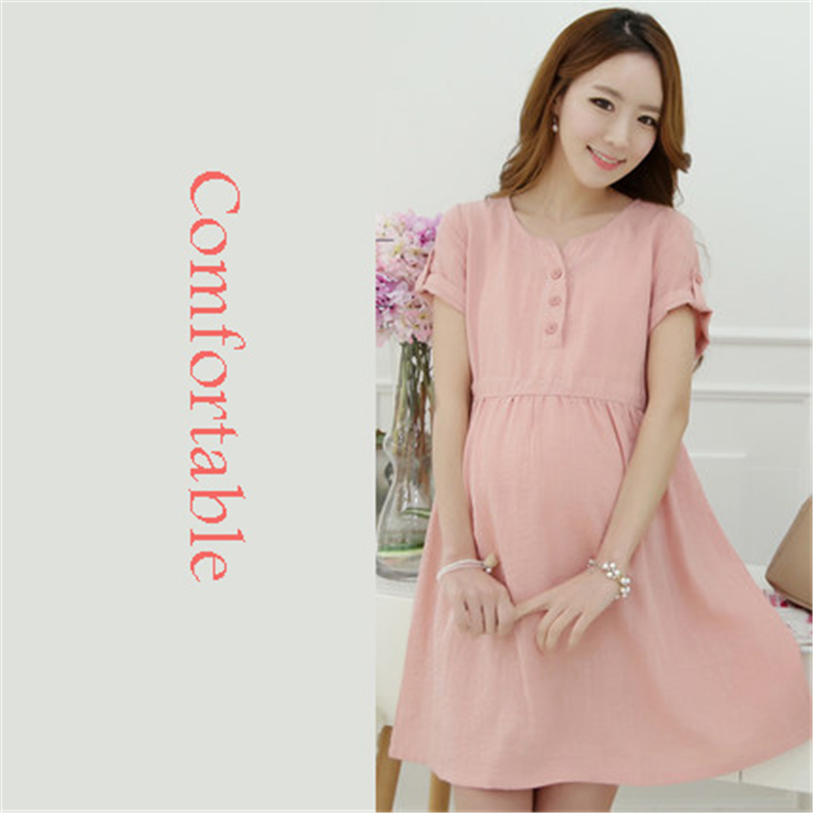 Pregnant dresses summer spring maternity dress for pregnant women pregnant dresses summer spring maternity dress for pregnant women clothes casual new vestido para embarazadas pink blue 70r0220 in dresses from mother ombrellifo Image collections