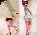 Cosplay accesorios rayados anime del bowknot del cordón calcetines lolita navidad