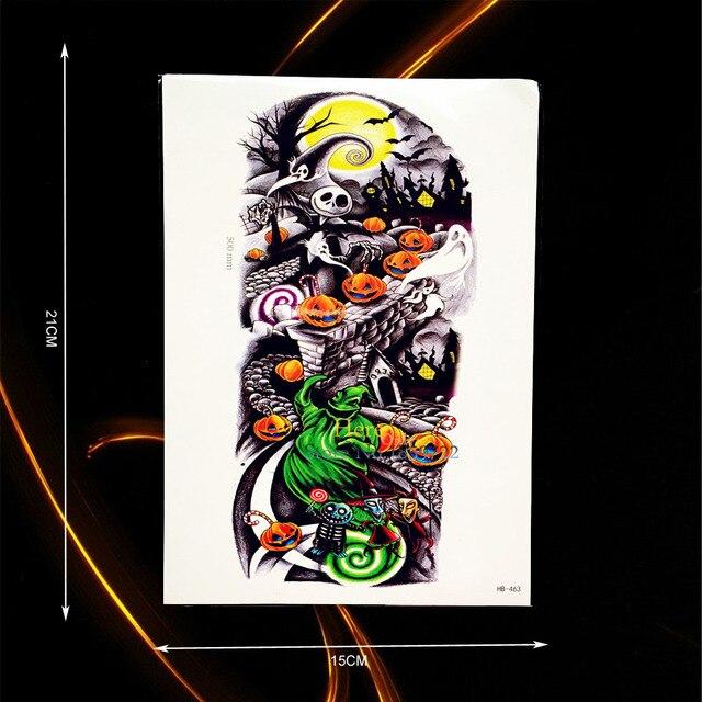 Decoration Ghost Punkin Bat Design Arm Sleeve Tattoo Body Art Tempoary Sticker Waterproof Tatoo