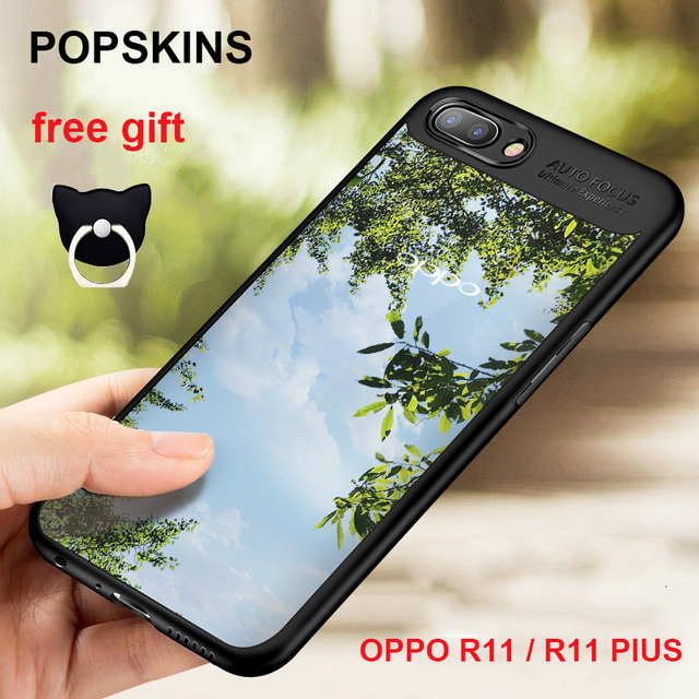 innovative design a7022 87387 US $4.21 |OPPO R11 case original OPPO R11 back cover silicone + PC hard and  soft protective phone cases Popskins OPPO R11 Plus case cover-in Fitted ...