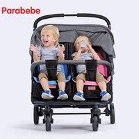 Тележка для близнецов легкий двойной коляски Детские коляски для новорожденных Симпатичные Божья коровка двойное сиденье ребенка Багги ко