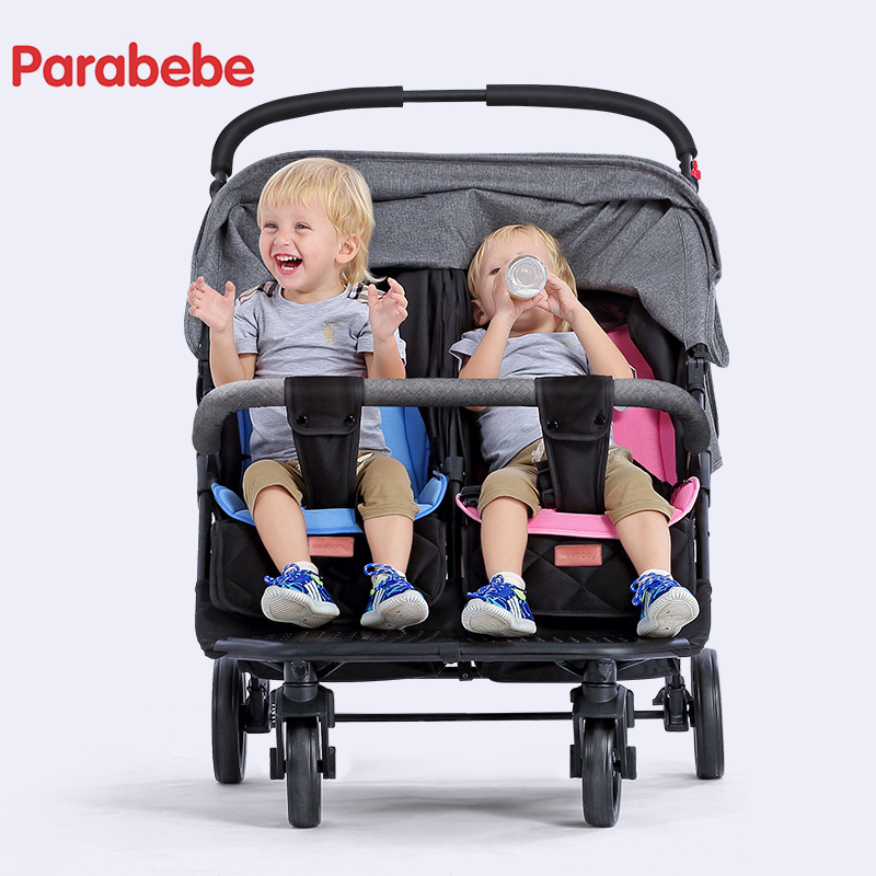 Carriage For Twins Lightweight Double Strollers Baby Prams For Newborns Cute Ladybug double seat baby buggy cart foldable bello outdoor double twins stroller foldable light baby carriage prams buggy with rain cover
