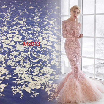 5YARDS/bag MX013 offwhite best quality sequin embroidery tulle mesh lace fabric for wedding party /sawing