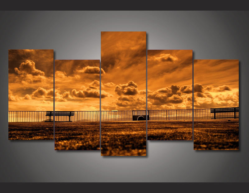 framed printed outdoor railing picture painting wall art room decor print poster picture canvas free shipping