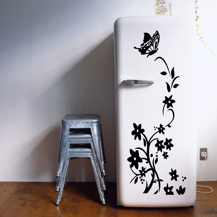 3D butterfly Wall Sticker Refrigerator Sticker For Home DIY Wall Art Decal Decoration Wallpapers PVC Wall Decals/Self Adhesive