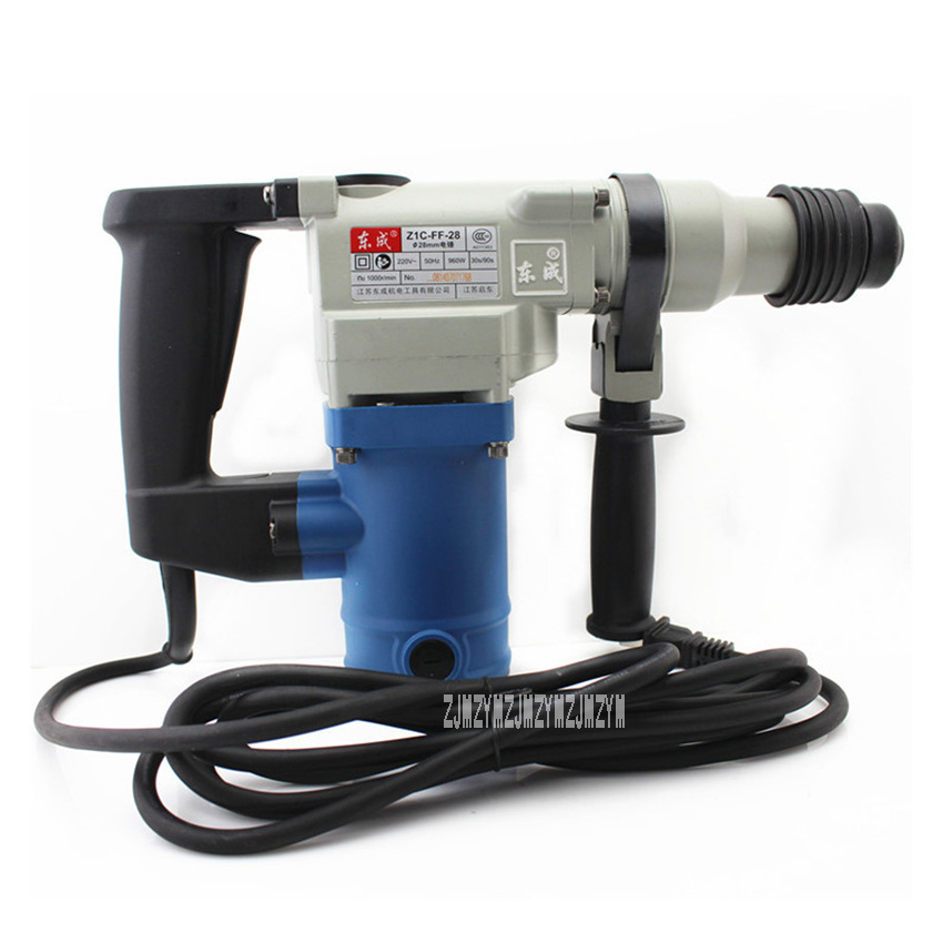 New Arrival Impact Drill Hammer Dual-use Z1C-FF02-28 High-power Impact Drill Hammer Power Tools 220V/50Hz 960W 0-1000r/min 28mm 1050w 220v high power impact professional electric drill wall wood metal hammer drill set power tools accessories for electrical