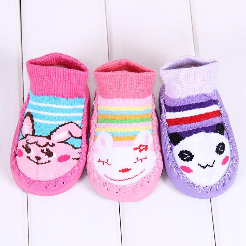 3 Pares de meias da menina do menino de algodão do bebê Inverno Engrossar Botas Sapatos Meias Bebê Recém-nascido Da Criança Anti-Slip Meias Antiderrapante frete grátis