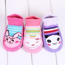 3Pairs baby girl socks boy cotton Newborn Baby Toddler Non-Slip Booties Shoes Socks Autumn Winter  Antiskid Sock free shipping