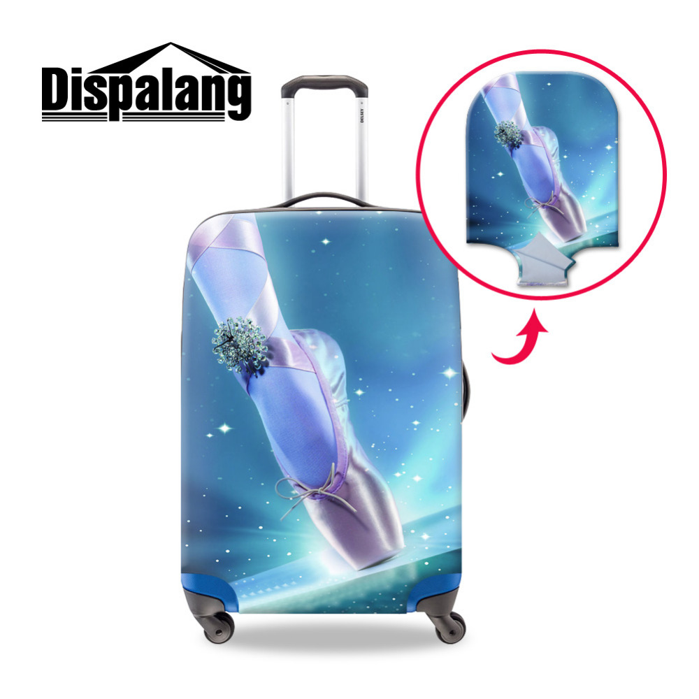 Ballet Shoes Print Travel Elastic Thick Luggage Protective Cover Size S/M/L Apply to 18 30 Inch Trolley Cases Suitcase Protector