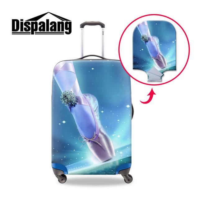 Ballet Sapatos de Viagem Impressão Elástico Grosso Bagagem Capa Protetora Tamanho S/M/L em Aplicar para 18-30 Polegada Protetor Casos Trolley Mala