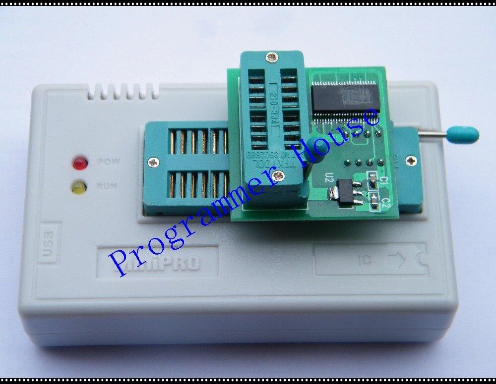Free Shipping V6.6 TL866CS Programmer EEPROM PIC AVR  BIOS USB Universal Programmer+V1.8adapter SPI Flash SOP8 DIP8 W25 MX25 free shipping mini pro tl866cs usb bios universal programmer kit with 5 pcs adapter
