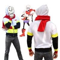 Game Undertale Papyrus Skeleton Brother Anime Men Hoodie Sweatshirts Cosplay Costume Coat Scarf