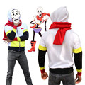 Game Undertale Papyrus Skeleton Brother Anime Men Hoodie Sweatshirts Cosplay Costume Coat +Scarf