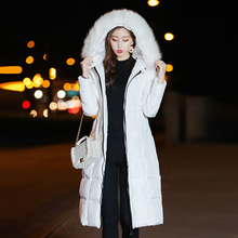 KUYOMENS Fur Collar Parka Down Jacket Women 2018 New Female Winter Coat Thick Parka Long Women Slim Cotton Winter Coat Ladi