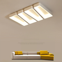 Modern aluminum body Led ceiling lights for bedroom room White / black ceiling lamp with remote control accessory