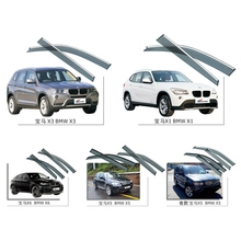 For BMW X1 X3 X5 X6 2008-2017 Window Visors Awnings Shelters Rain Sun Deflector Guard Vent Protector Covers 4Pcs Car Accessories