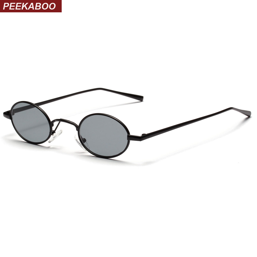Retro Uv400 Vintage Sun 2018 peekaboo Small Oval Black Us7 Sunglasses Metal 20Off Yellow Round For Lens Glasses Men In 98 Frame Red Men's Women v80NnwOymP