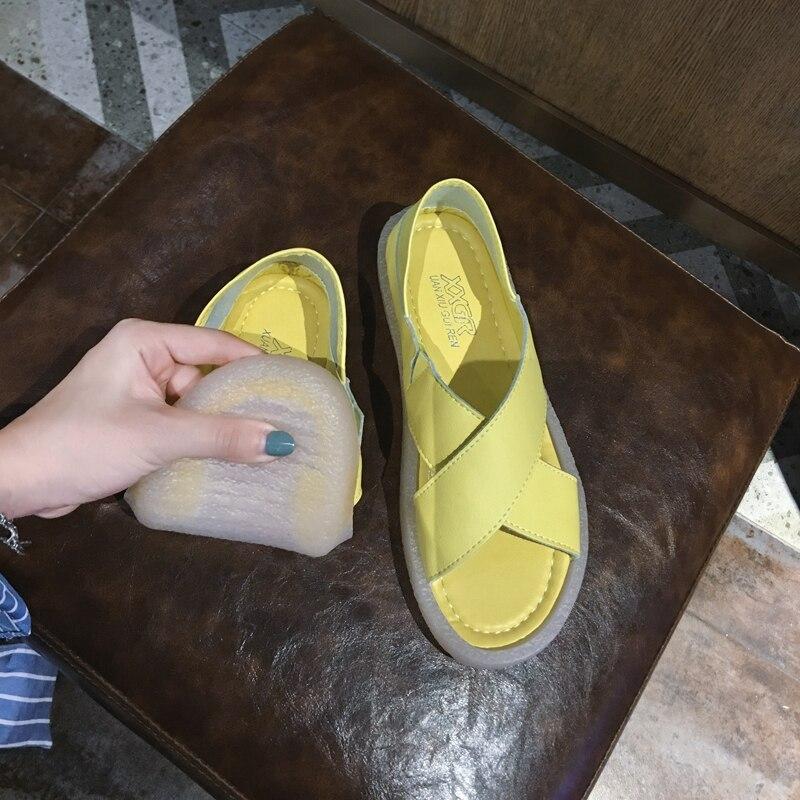 Женская обувь; Сандалии в римском стиле; Новинка лета 2019; Модная повседневная обувь на платформе для отдыха Боссоножки и сандалии      АлиЭкспресс