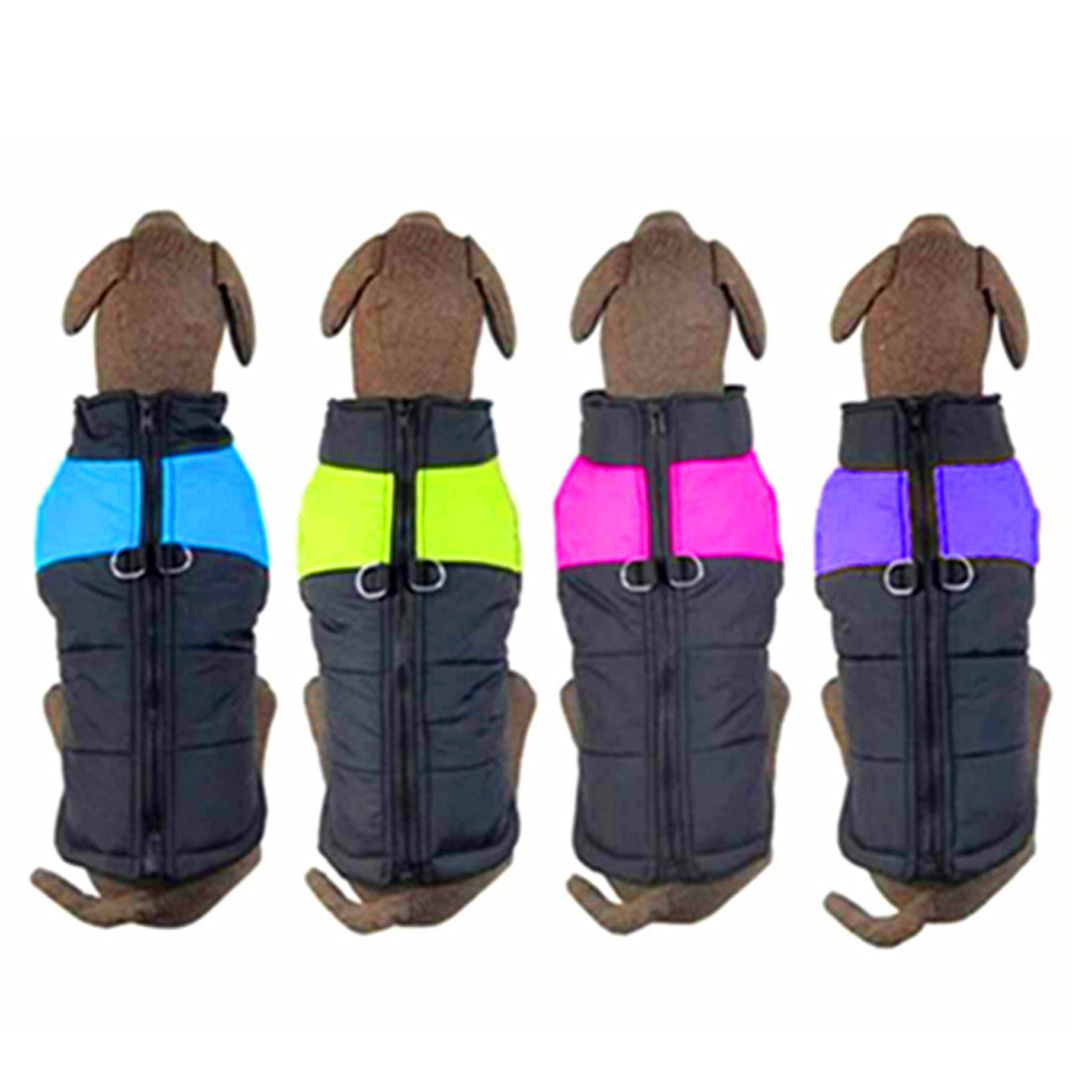Waterproof Pet Dog Puppy Vest Jacket Chihuahua Clothing Warm Winter Dog Clothes Coat For Small Medium Large Dogs 4 Colors S-5XL 2