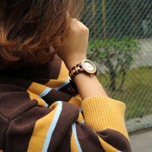 Image 4 - Reloj mujer BOBO ptak kobiet zegarki japonia ruch zegarki drewniane Band kwarcowy drewna zegarek dla kobiet C M19
