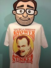 Terry-Thomas - British Comedian T-Shirt (Positive Shower) White Shirt Print T Mens Short Sleeve Hot Tops Tshirt Homme