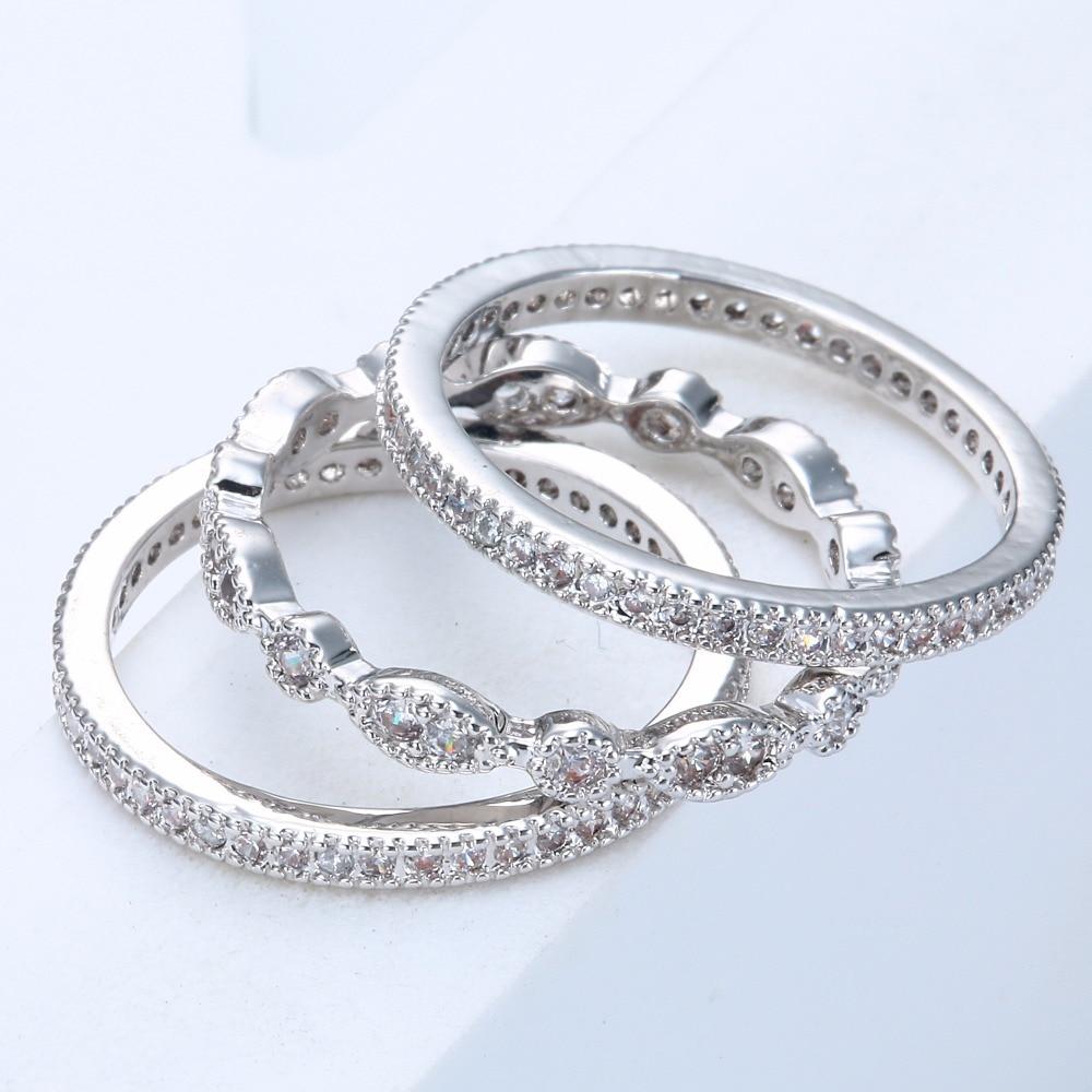3 հատ եզակի միկրո հարթած սպիտակ - Նորաձև զարդեր - Լուսանկար 6