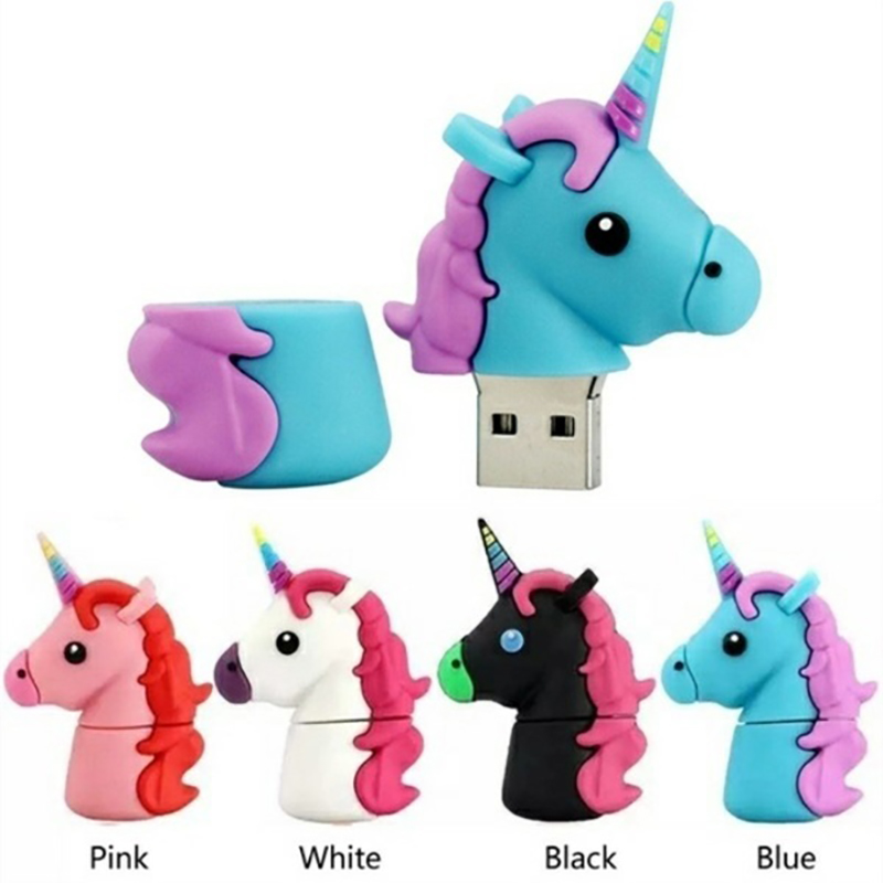 Horned Horse Type USB 3.0 32GB 64GB Usb Flash Drive 128GB Pendrive 16GB 8GB Pen Drive U Disk Flash Memory Stick Free Converter