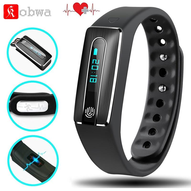 Original Fitness Tracker Smart Wristband Fitness Bracelet LED Touchpad kobwa Band Heart Rate Monitor in Stock