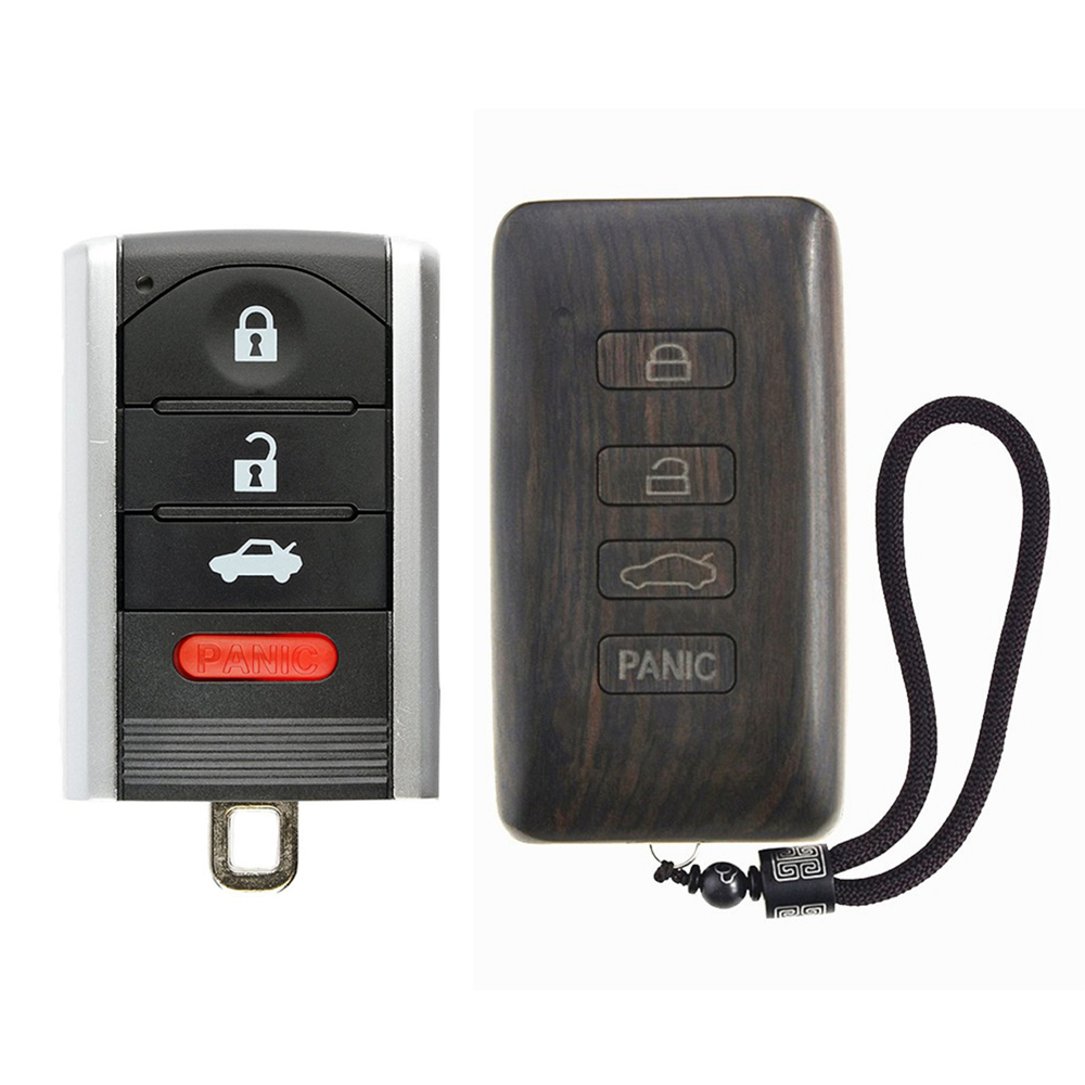 Rosewood Car Key Fob Shell Replacement Remote Control