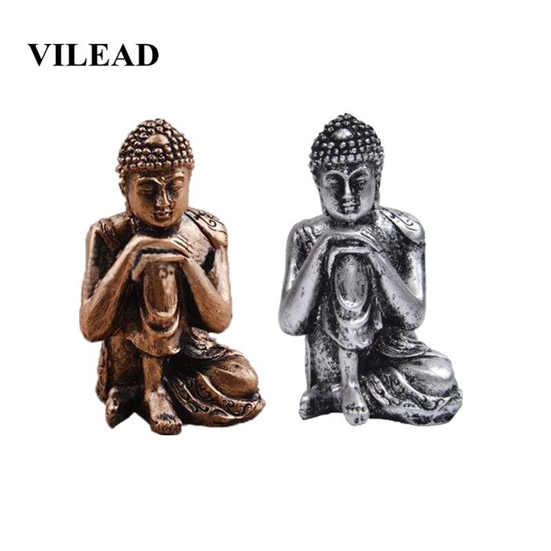 VILEAD 9cm Resin Southeast Asian Sleeping Buddha Statue Thailand India Creative Buddha Crafts Home Decoration Sculpture Gifts