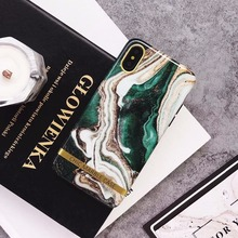 Luxury agate Glitter marble Case For iphone Glossy soft silicon case for 7 plus Back Cover Fashion  IMD Cases Capa