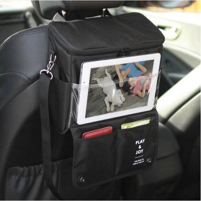 Coche en el asiento trasero organizador de almacenamiento organizadores de bolsillo más coche contenedores de bebé asientos de seguridad infantil colgar bolsas de asiento de coche