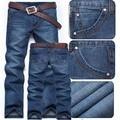 2016 Nova Frete Grátis Venda Quente Magros Retas Moda Jeans calças de Brim Dos Homens, Designer de Algodão calças de Brim Dos Homens de Varejo & Atacado, 625