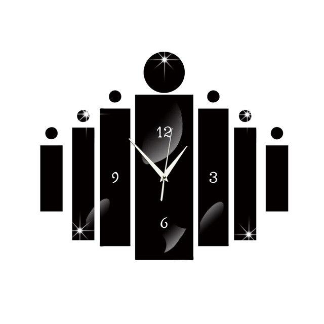 GroB Neue Acryl Technologie Digital Wanduhr Spiegel Wanduhr Schlafzimmer Uhr  Kreative Wohnzimmer Ruhig Uhr