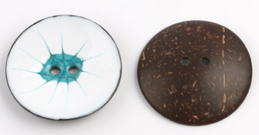 Цветная круглая Кокосовая декоративная кнопка, большая Деревянная пряжка, сделай сам, пальто для одежды, Кокосовая оболочка, клеевая кнопка, Детская Кнопка 63 мм - Цвет: 22