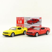 1pc 1:43 series 4.5'' 11.2cm Ford mustang GT car pull back alloy model vehicle collection cool boy toy gift