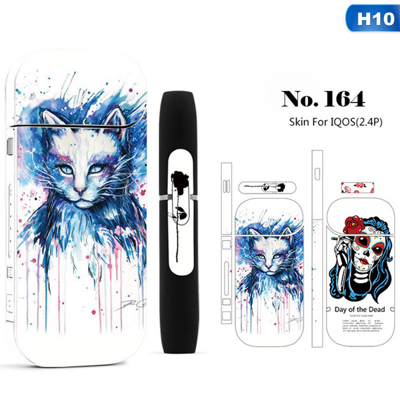 Consumer Electronics Electronic Cigarettes 1 Piece Cool Design Protective Sticker For Iqos 2.4 Plus Skin Cover Sleeve Sticker Iqos Decal Sticker 12 Styles Hot Sale