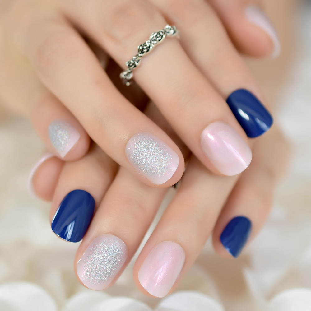Aliexpress.com : Buy Iridescent UV Gel Nails Tips Short