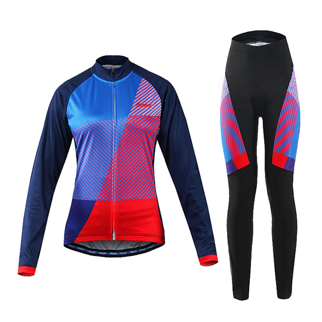High Quality Women Cycling Long Sleeves Jersey MTB Bike Bicycle Shirts Jerseys Paded Cycling Wear Clothes