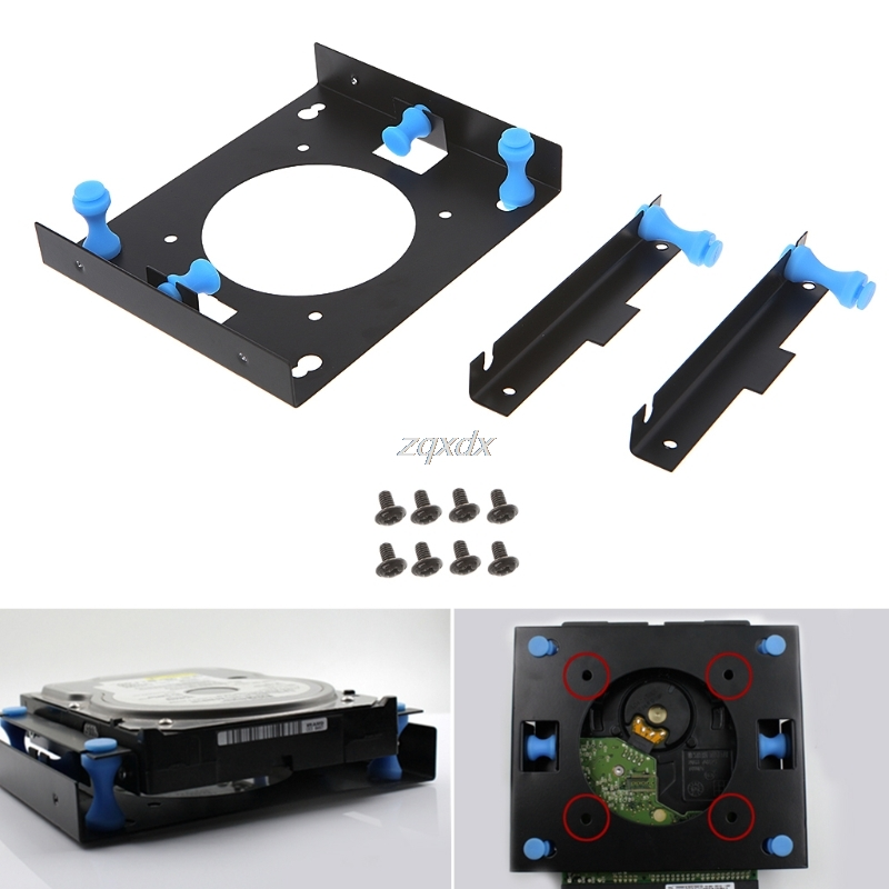 OOTDTY 3.5 to 5.25 Bay Hard Disk Drive Shock Absorption Bracket Converter Mounting Kit Z09 Drop ship