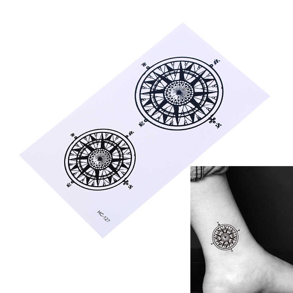 Waterproof Temporary Tattoo Sticker Black Butler Contract Symbol Compass Tatto Stickers Flash Tatoo Fake Tattoos for Men Women
