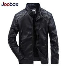 JOOBOX Luxury Mens Leather Jackets Autumn Winter PU Coat Men Plus Velvet Outerwear Biker Motorcycle Male Classic Black Jacket